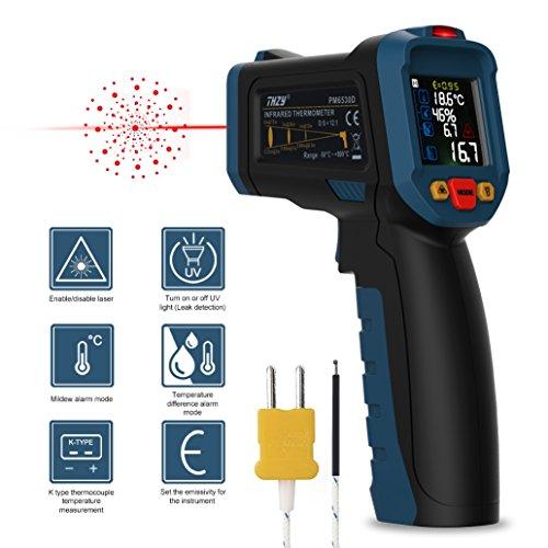 Laser Infrarot Thermometer Kingtop Pyrometer Digital IR Thermometer, -50°C~380°C