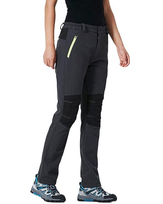 f0ebbe62a Qitun Mujer Hombre de Trekking Senderismo Impermeable Secado Rápido  Deportivos Transpirable Pantalones