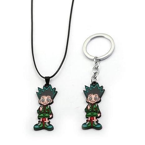 Amazon.com: Anime Hunter X Hunter llavero collares Gon ...