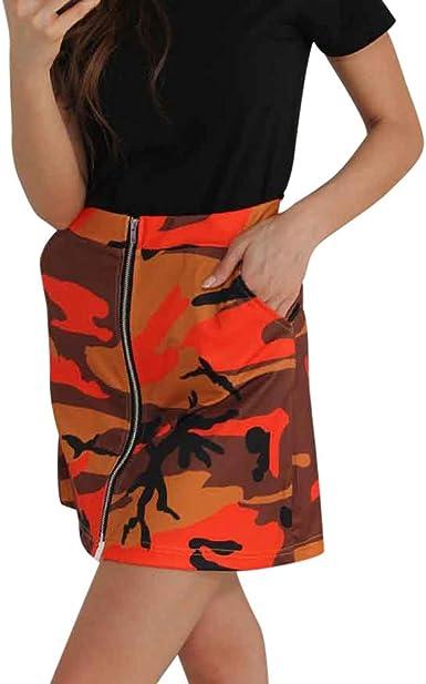 FELZ Falda Mujer Corta Falda Mujer Talla Grande Falda con ...