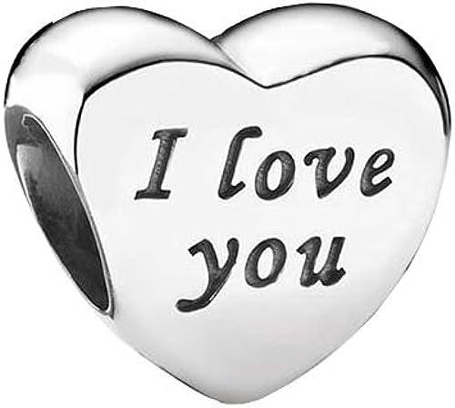 Breloque en forme de cœur en argent sterling S925 avec inscription ...