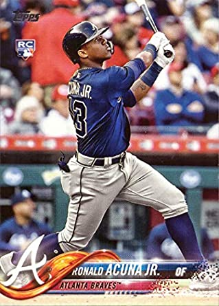 Image result for 2018 topps update ronald acuna jr