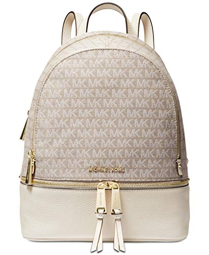 MICHAEL Michael Kors Rhea Zip Medium Backpack (Natural/Cream) ()