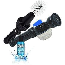 Brush Hero- Wheel Brush, Premium Water-Powered Turbine for Rims, Combined with SOAP Star by Brush Hero and 2 oz. Muck Buster