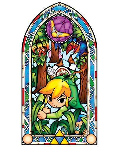 BLIK Zelda Wind Waker Boomerang Stained Glass Removable Wall Decal | Officially Licensed Nintendo Art | Easy Peel and Stick Design | 22.5 x 42.5 Inches