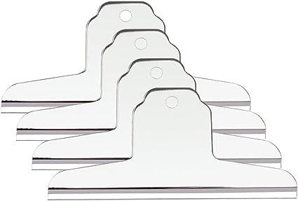 Pinzas metálicas extra grandes, para mesas de dibujo o caballete, plateadas, 145 mm, paquete de 4: Amazon.es: Oficina y papelería