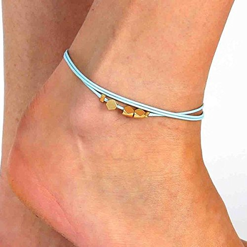 Turquoise Anklet – Ankle Bracelet – Layered Anklet – Foot Jewelry – Foot Bracelet – Beaded Anklet – Summer Jewelry – Beach Jewelry