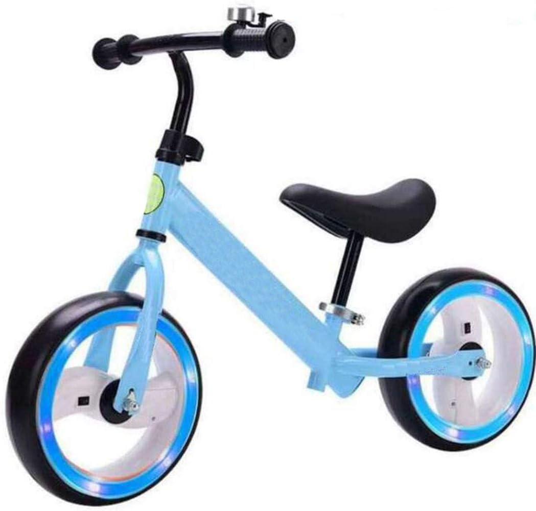 Bicicleta para niños Pista para equilibrio de 12 pulgadas para bicicletas Bicicleta de dos rondas sin pedal Caminata para entrenamiento con equilibrio Bicicleta Impulsor de un niño Montar rueda de apr: Amazon.es: