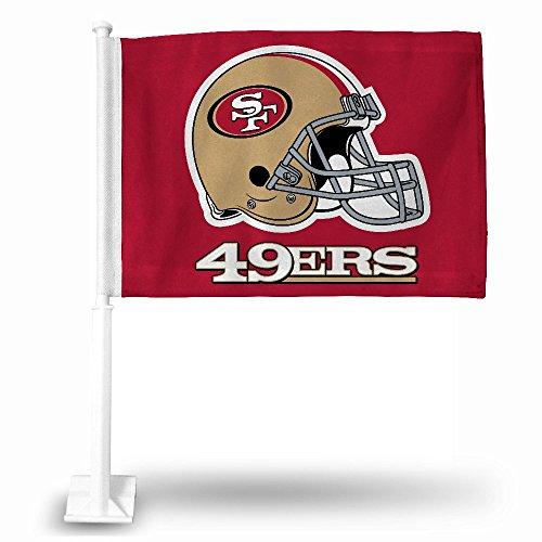 San Francisco 49ers Helmet Car Flag ()