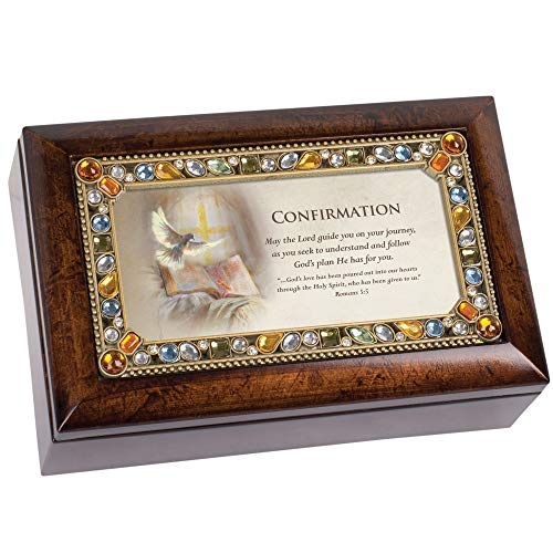 (Cottage Garden Confirmation Lord Guide Your Journey Amber Earth Tone Jewelry Music Box Plays Amazing Grace)