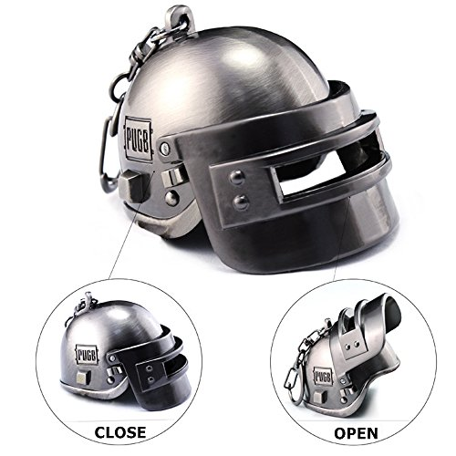 PUBG Playerunknowns Battlegrounds Level 3 Helmet KeyChain Special Forces Helmet Accessories Gift for Fans (movable)