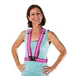 Tuvizo Reflective Vest for High Visibility All Day and Night with Emergency Identification. For Running, Cycling, Dog-Walking, Car Safety, Highway Use, Motorcycling and Horse Riding (PINK, KIDS)