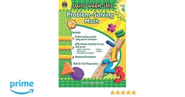 Amazon.com: Daily Warm-Ups: Problem Solving Math Grade 4 (Daily ...
