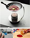 MDLG Adjustable Fire Height Wax Warmer Melts Heater Wax Sticks Beads Melting Glue Furnace Tool Stove Pot For Wax Seal Stamp Wedding Invitations Arts Crafts Melting Spoon Lightening Candle Kit