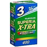 FUJIFILM 35mmネガフィルム SUPERIA X-TRA400-36枚撮り 3本パック