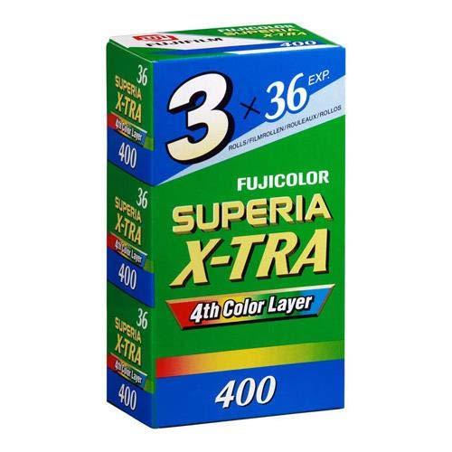 Fujifilm Superia X-TRA 400 Color Negative Film 35mm Color Film 36 Exposures, 3 Pack 600018965