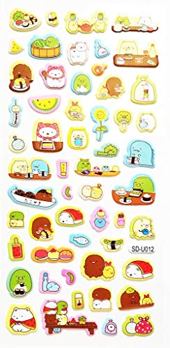 (PP Stickers 1 Sheet Cute sea Lion Cat Sticker Nori Seaweed Rice Sushi Japanese Food Cartoon Decal Tape Stickers DIY Decor Scrapbooking Classroom & School Foam Stickers Scrapbooking for)