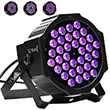 Black Light, U`King 36LED UV Par Lights Glow Effect by DMX Control for Blacklight Party Birthday Wedding DJ Stage Lighting
