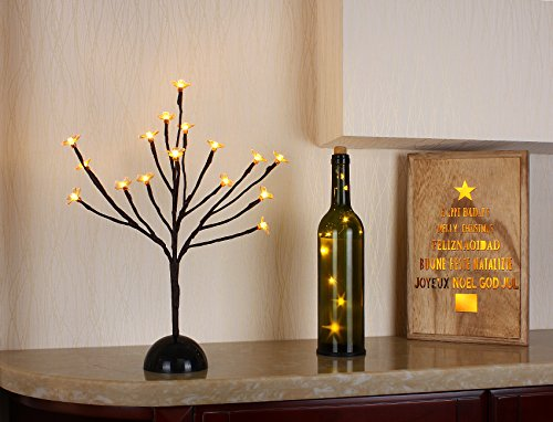 Bolylight LED Cherry Blossom Table Tree Lamp Night Light Centerpiece 14.56 inch (Table Light Cherry)