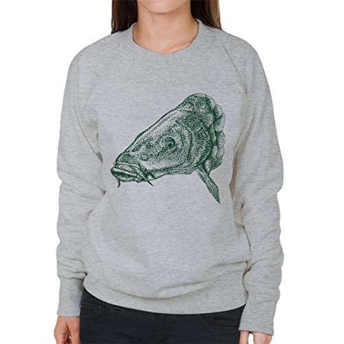 Carp Fishing Women's Sweatshirt Heather Grey