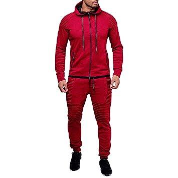 Traje de hombre otoño ❤ Sonnena Pantalones de los hombres de otoño invierno bolsillo superior