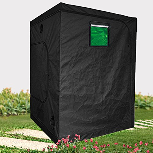 BloomGrow 60''x60''x78'' Hydro High Reflective Indoor Grow Tent Room w/Observation Window and Metal Corner (60''x60''x78'') by BloomGrow
