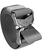 JUKMO Cinturón táctico, cinturón militar de senderismo de 3,8 cm con hebilla de liberación rápida resistente