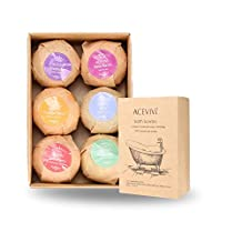ACEVIVI 6 Bath Bombs Gift Set - Organic Assorted Spa Bath Bombs Set With All Natural Ingredients, Handmade 6 Bomb Gift Set, See, Smell & Feel the Difference