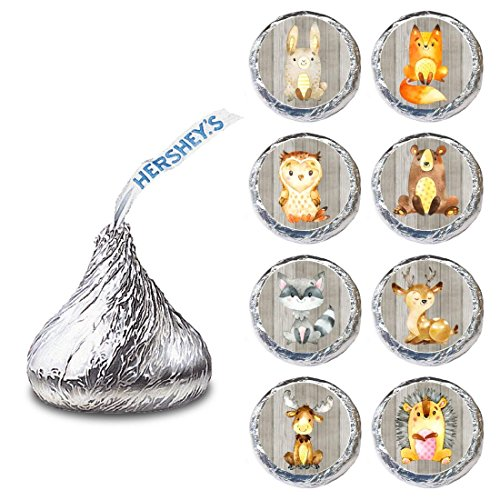 - Woodland Forest Animal Label for HERSHEY'S KISSES® chocolates - Party Candy Stickers - Set of 240