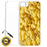mac and cheese ipod 5 case - Custom iPhone 7 Case (Mac n cheese) Edge-to-Edge Plastic White Cover with Shock and Scratch Protection | Lightweight, Ultra-Slim | Includes Stylus Pen by Innosub