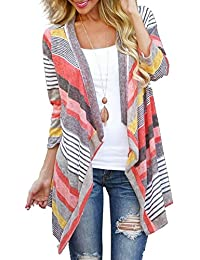 Myobe Women's Fashion Geometric Print Drape Front Cable...