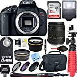 Canon EOS Rebel T7i Digital SLR Camera with Sigma 18-250mm Macro Lens + 64GB 64GB Extreme SDXC Memory UHS-I Card + Accessory Bundle