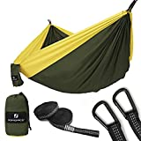 SONGMICS Ultra-Lightweight & Portable Hammock Hold up to 660LB Single & Double Parachute Nylon Camping Hammock Swing Bed 118'' x 78'' for Outdoor Backpacking, Hiking, Yard, Traveling UGDC20AY