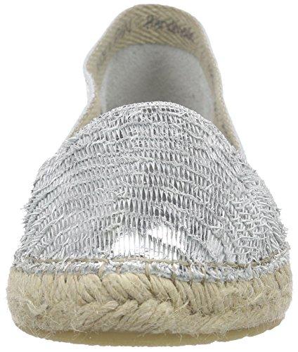 Buffalo 810730 Escamas Damen Espadrilles Silber (PLATA 06)