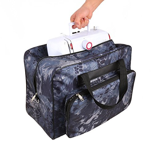 Creine Sewing Machine Carrying Case Tote Bag with Pockets an