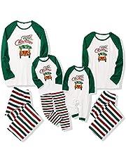 Christmas Family Matching Pajama Holiday Pjs Sets Cotton Sleepwear