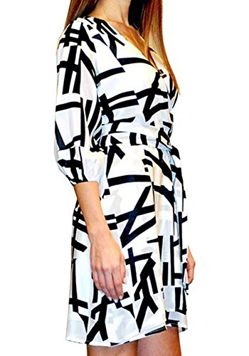 100 Milano Kleid Print Pires Seide Ana Bruna Kader Frau SXwA1xq