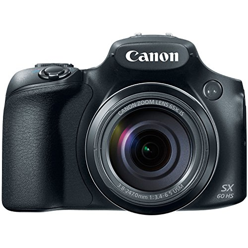 Focus Megapixel Lens - Canon Powershot SX60 16.1MP Digital Camera 65x Optical Zoom Lens 3-inch LCD Tilt Screen (Black)