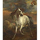 polyster Canvas ,the Beautiful Art Decorative Prints on Canvas of oil painting 'Style of Anthony van Dyck The Horses of Achilles ', 18 x 21 inch / 46 x 53 cm is best for Home Office gallery art and Home artwork and Gifts