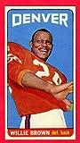 Willie Brown 1965 Topps Football Rookie Reprint Card (Tall Boy) (Chiefs) (Raiders)