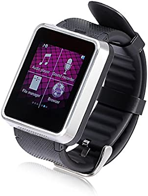 Lemfo F1 Bluetooth inteligente reloj teléfono reloj inteligente – Apoyo tarjeta SIM sincronización Smartphone llamada Función de pantalla táctil reloj de ...