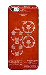 Ednahailey New Arrival Iphone 5c Case Vintage Soccer Ball Patent Drawing From 1964 Case Cover/ Perfect Design