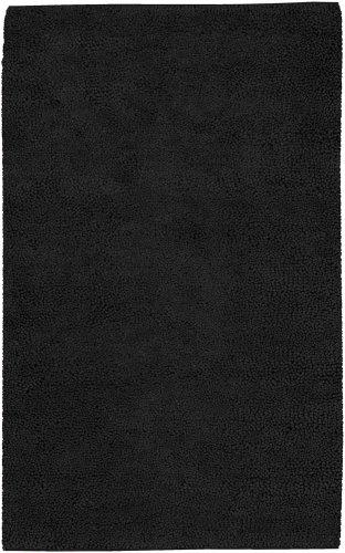 Surya Aros AROS-13 Shag Hand Woven 100% New Zealand Felted Wool Black Olive 3'6