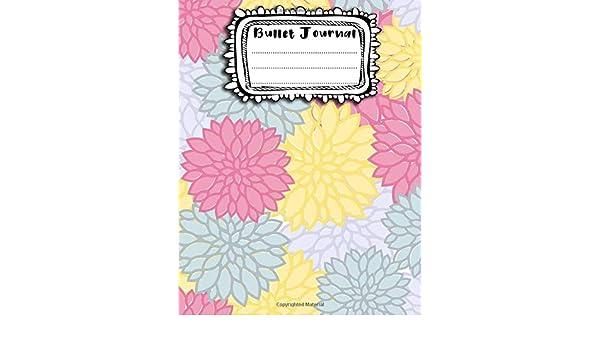 Bullet Journal: A4 - 156 paginas - Halloween - Flores - Decoracion floral - Estampado de flores - Patron sin costuras - Seamless Pattern 156 paginas ... punteadas y dot grid / bullet journal: Amazon.es: AEhor: Libros