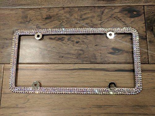 Genuine Swarovski License Plate Frame - Crystal AB ()