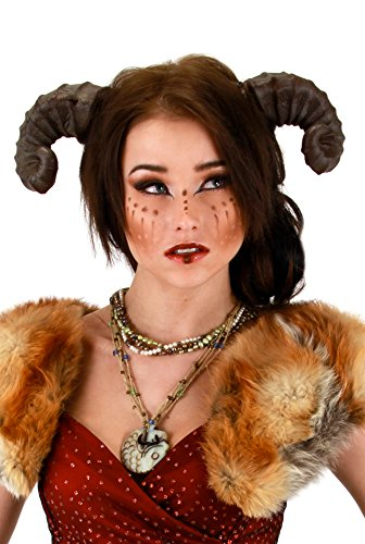 Brown Dragon Satyr Costume Horns Headband For Adults -elope ()
