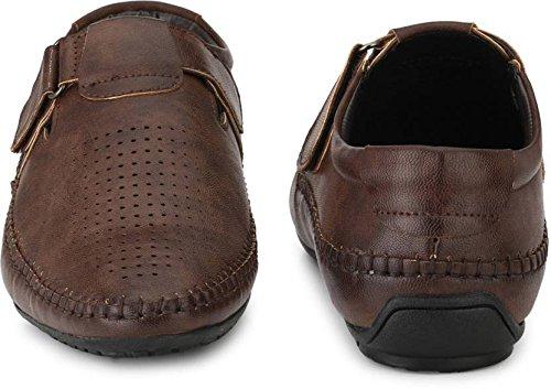 5de24489787bb EL PASO Men s Faux Leather Brown Exquisite Designer Sandals  Buy Online at  Low Prices in India - Amazon.in