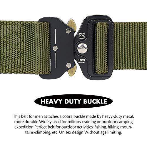 Loritta Mens Tactical Belt Heavy Duty Quick-Release Riggers