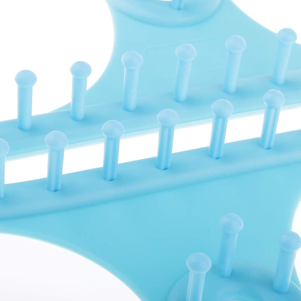 Baoblaze 1 Set 8 Form Strickstuhl Strickrahmen Strickhilfen f/ür Anf/änger und professionelle Stricker