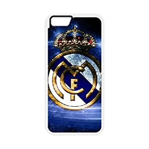 iPhone 6 Plus 5.5 Inch Cell Phone Case White Real Madrid Phone Case Cover Clear Plastic XPDSUNTR29150